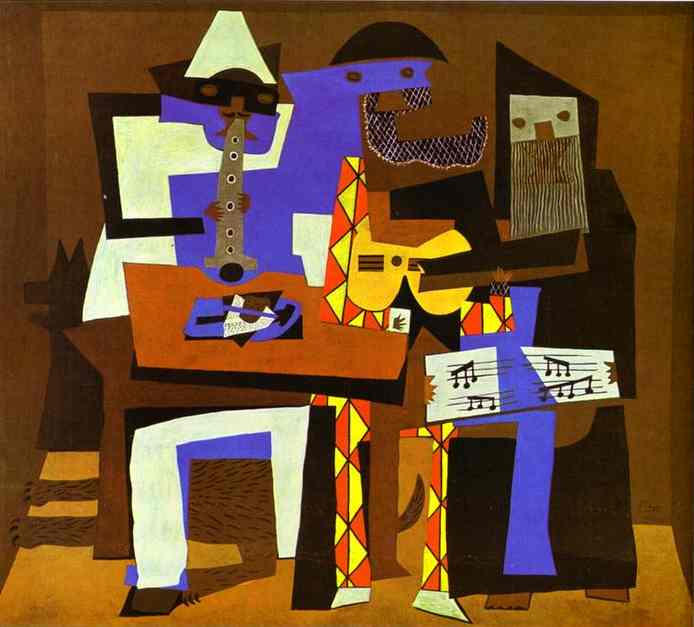 famous painting drei musiker of Pablo Picasso