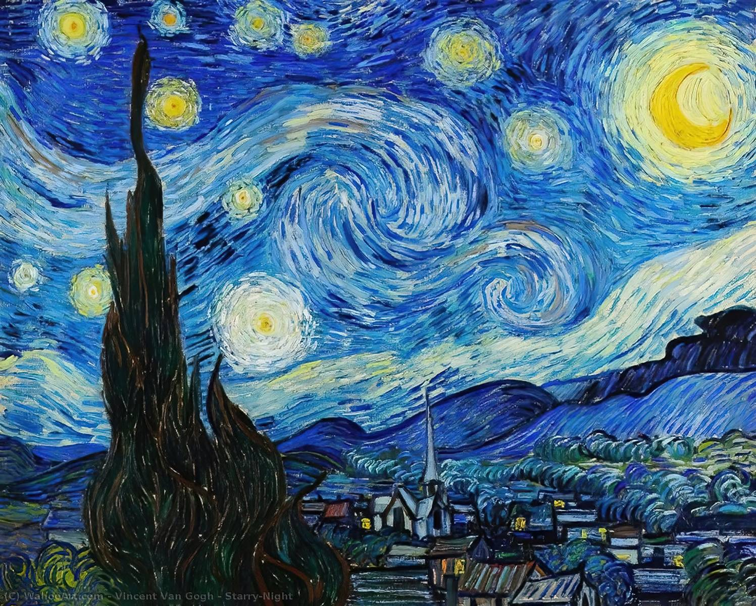 famous painting Sternenklare Nacht of Vincent Van Gogh