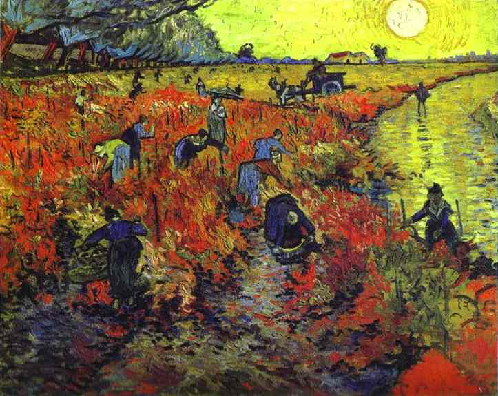 famous painting Rot Weinberge von arles of Vincent Van Gogh
