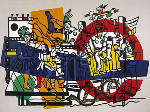 famous painting die große parade of Fernand Leger