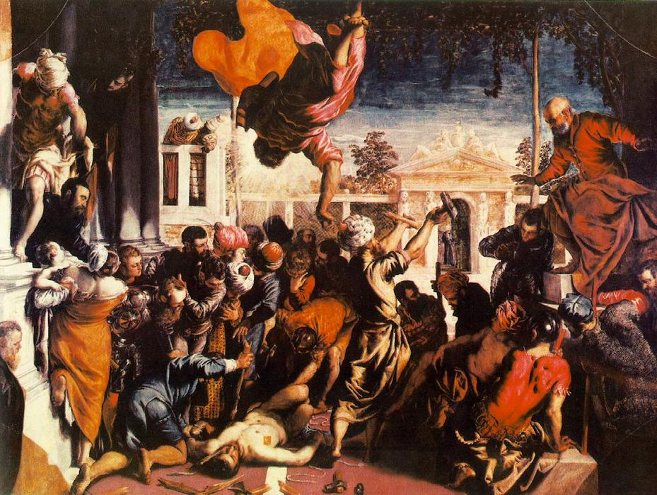 famous painting Das Wunder von St Mark Befreiung der Slave of Tintoretto (Jacopo Comin)