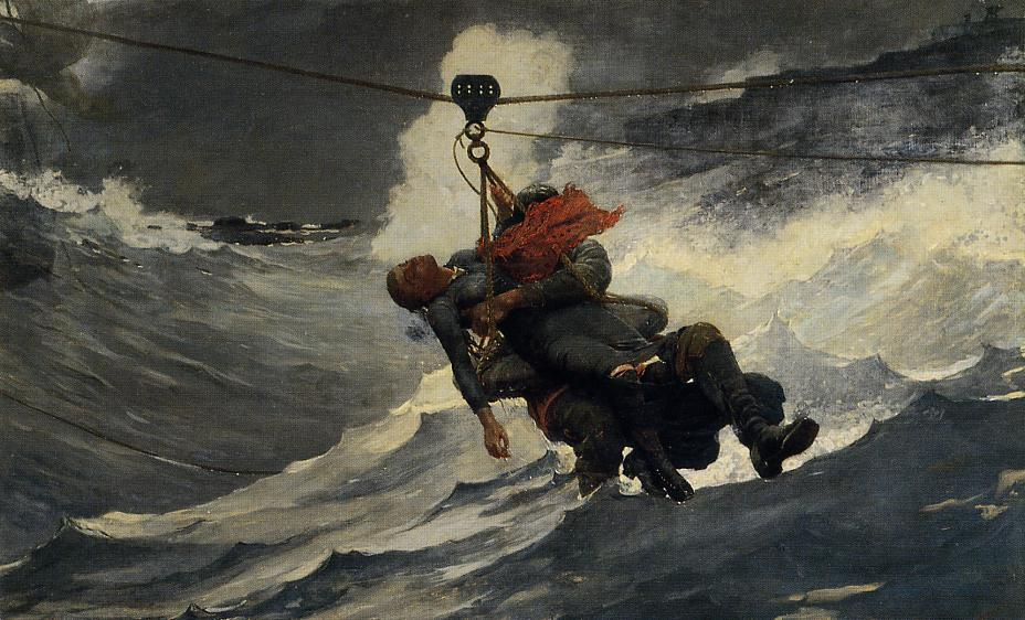 famous painting Die Life Line of Winslow Homer