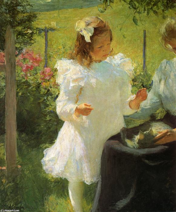 famous painting Sonnenlicht of Frank Weston Benson