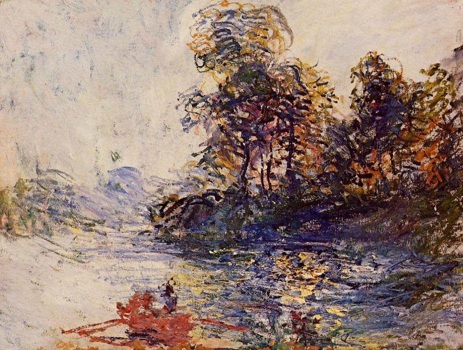 famous painting dem Fluss of Claude Monet