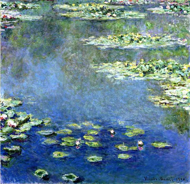 famous painting wasserlilien of Claude Monet