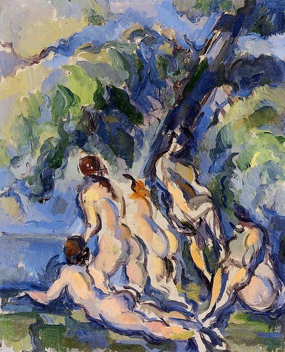 famous painting Badende 3 of Paul Cezanne
