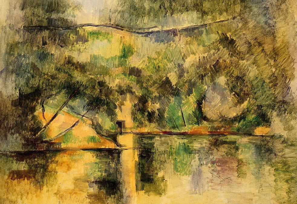 famous painting reflexionen in der wasser of Paul Cezanne