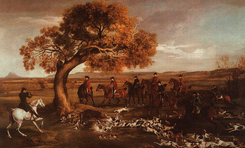 famous painting Das Grosvenor Jagd of George Stubbs