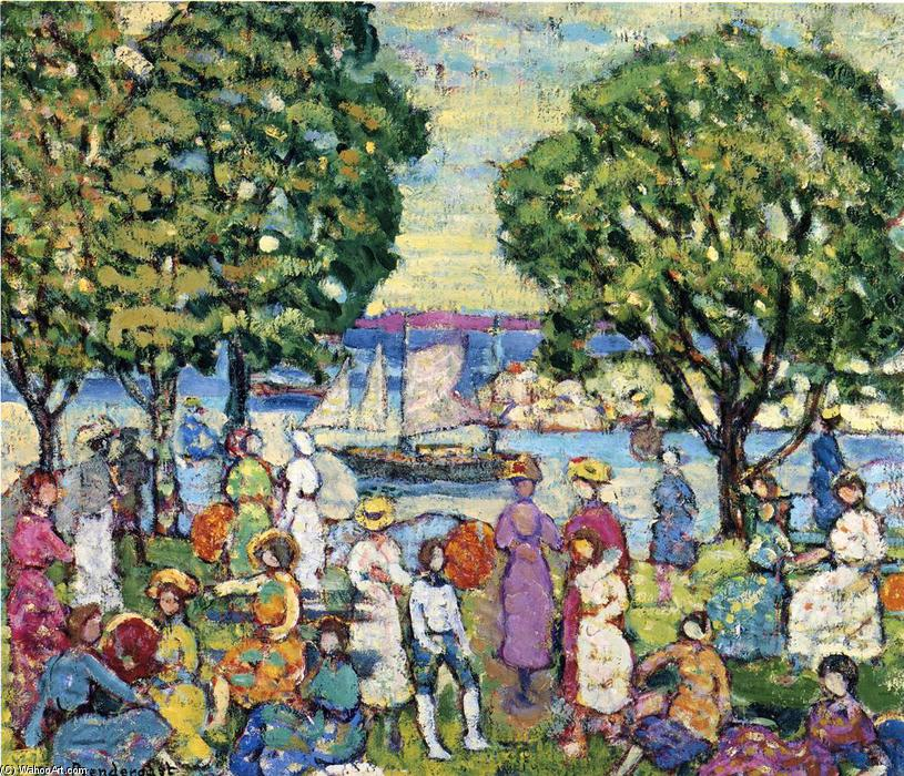 famous painting Gloucester Hafen of Maurice Brazil Prendergast