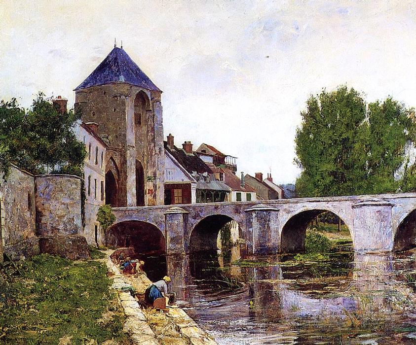 famous painting Grau Tag, Moret of William Lamb Picknell