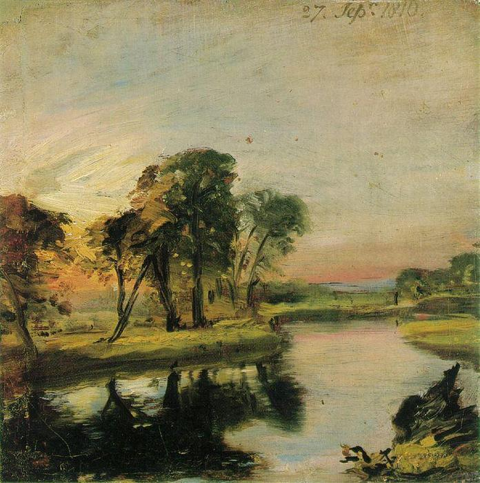 famous painting Blick auf den Stour of John Constable