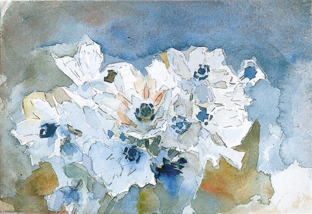 famous painting Blumen of Mikhail Vrubel