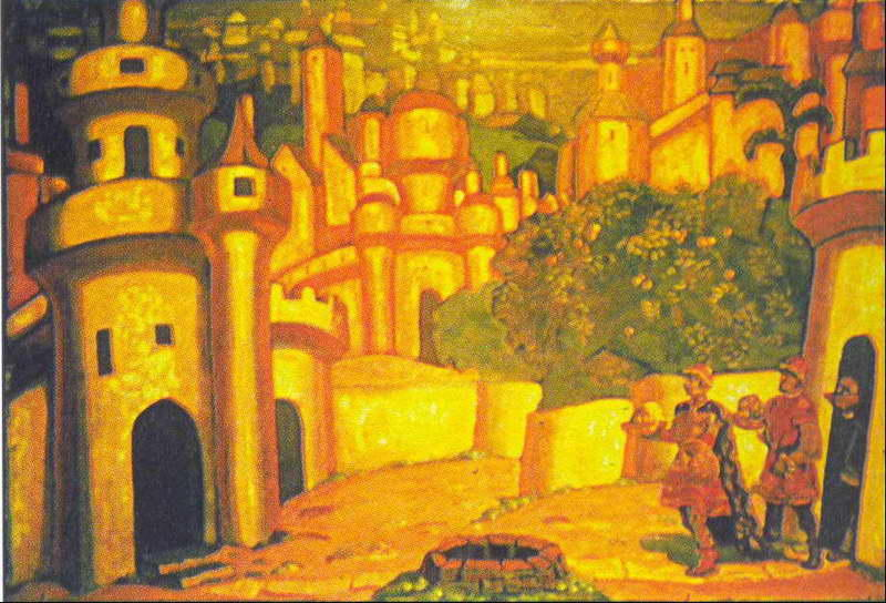 famous painting Geschenke of Nicholas Roerich