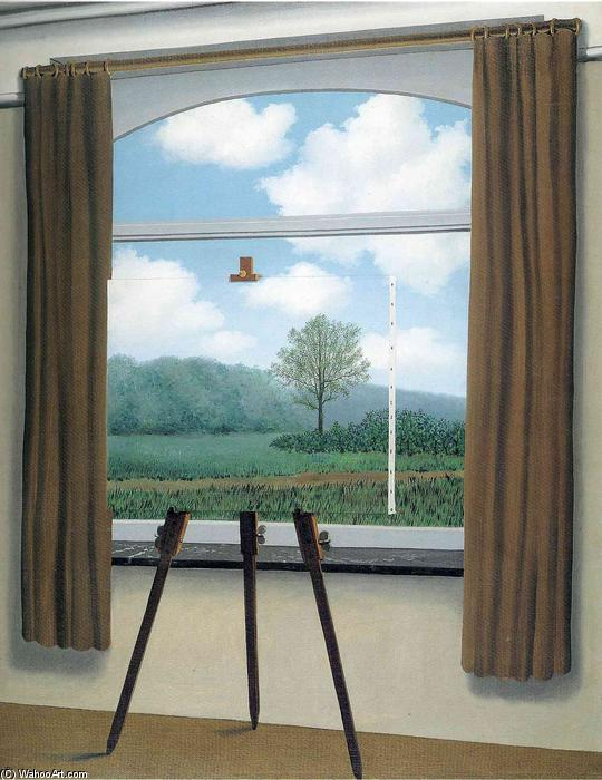 famous painting Der menschliche Zustand of Rene Magritte