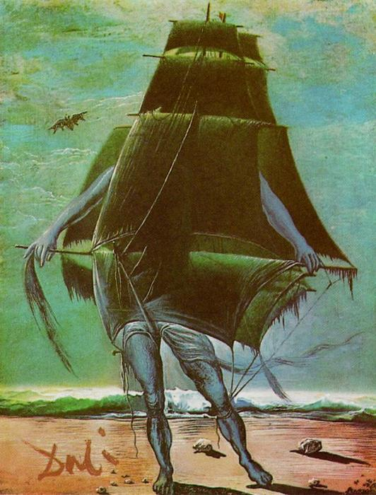 famous painting der Schiff of Salvador Dali