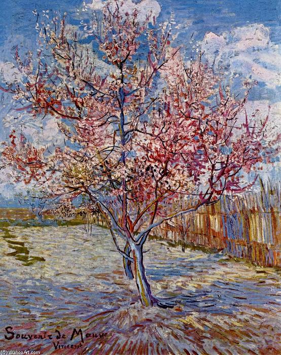 famous painting pfirsich baum in blüte ( in erinnerung of Mauve ) of Vincent Van Gogh