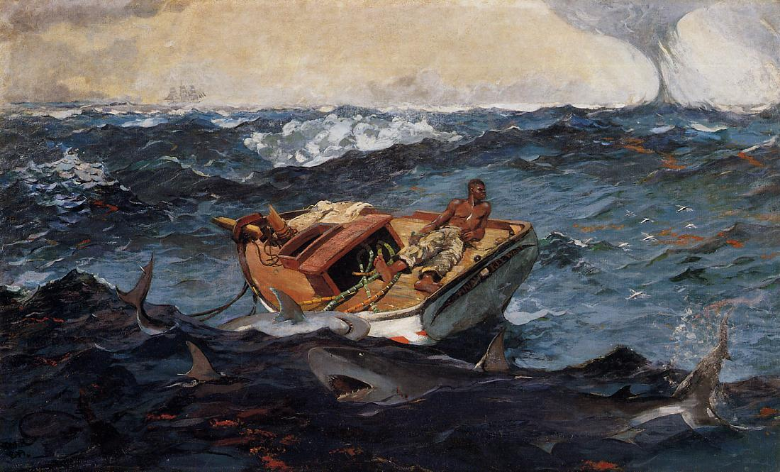 famous painting Der Golfstrom of Winslow Homer