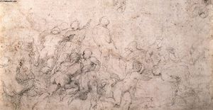 Michelangelo Buonarroti - Studie für das Battle of Cascina