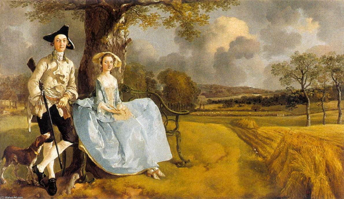 famous painting Herr und mrs Andrews of Thomas Gainsborough