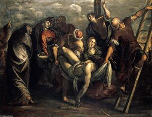 Tintoretto (Jacopo Comin) - Die Deposition