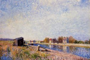 Alfred Sisley - Der Loing in Saint Mammes