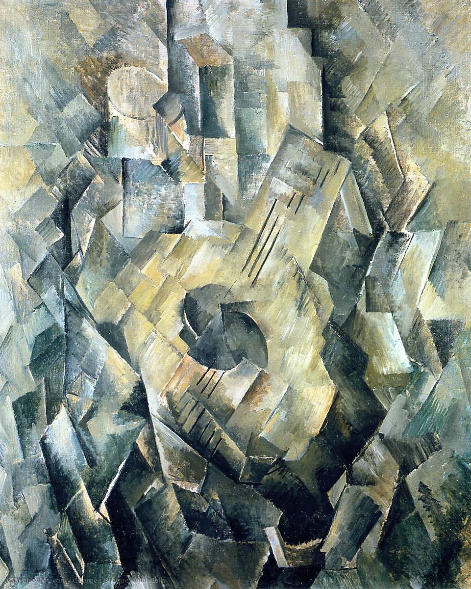 famous painting Mandola of Georges Braque