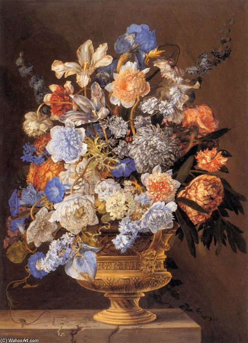 famous painting strauß blumen of Jacques I Bailly