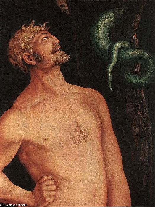 famous painting Adam Detail of Hans Baldung