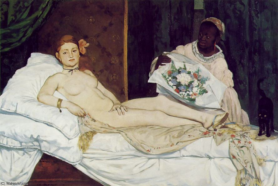famous painting Olympia , Musee d'Orsay , Paris of Edouard Manet