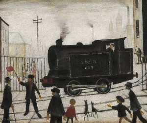 Lawrence Stephen Lowry - Bahnübergang