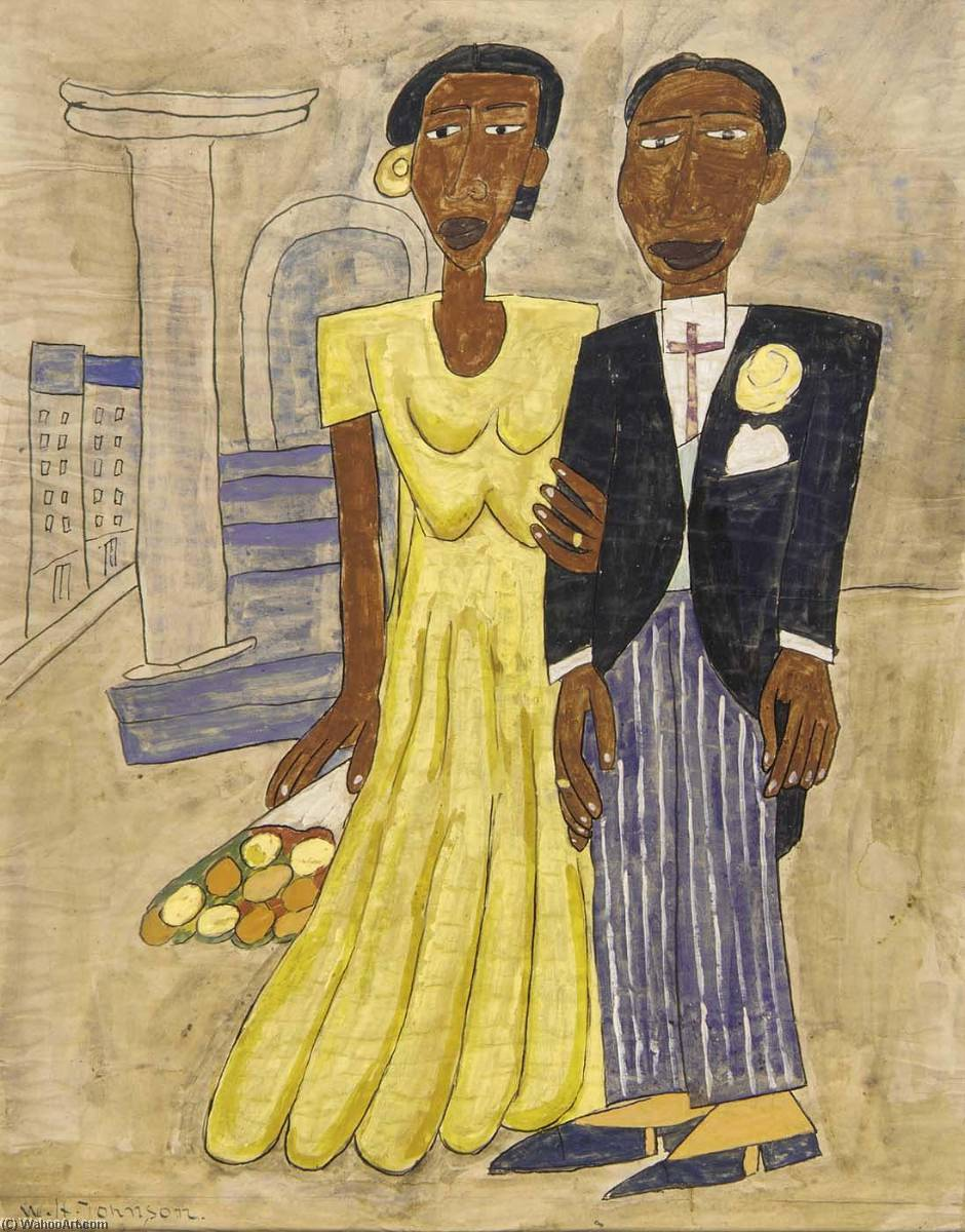 famous painting hochzeit paar  of William Henry Johnson