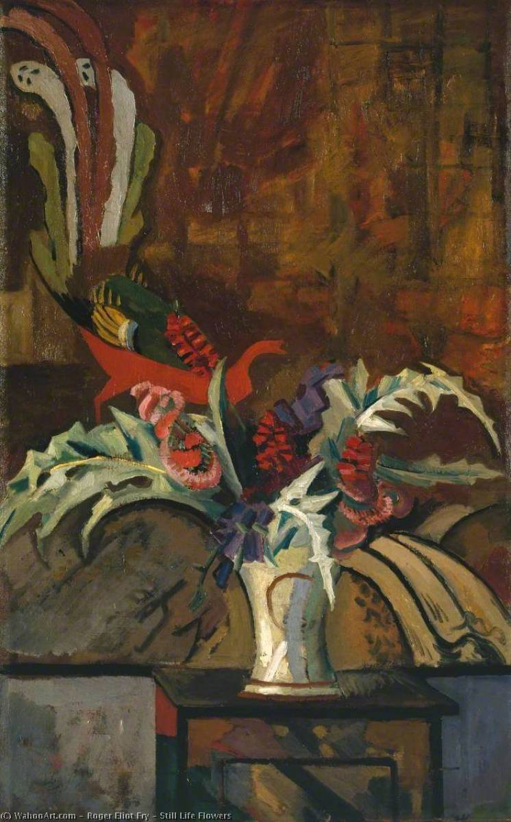 famous painting stillleben blumen of Roger Eliot Fry